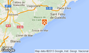 Map Tossa de Mar Apartment 98225
