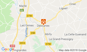 Map Loches Self-catering property 75895