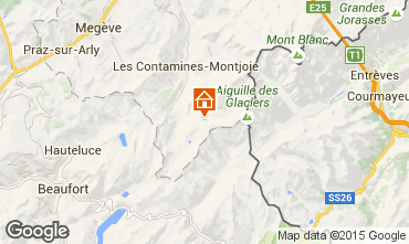 Map Les Contamines Montjoie Studio apartment 929