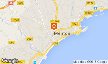 Map Menton Apartment 96723