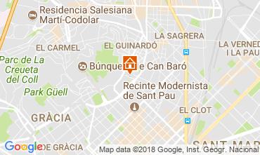 Map Barcelona Apartment 72336