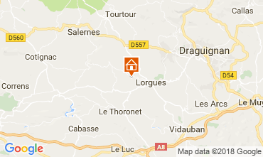 Map Lorgues Self-catering property 113817