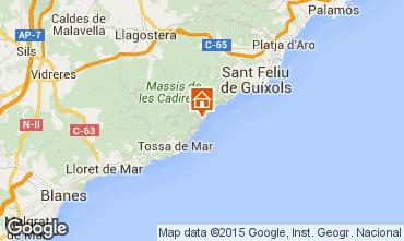 Map Tossa de Mar Apartment 81181