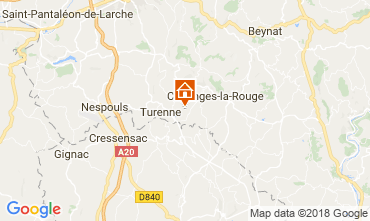 Map Brive-la-Gaillarde House 115407