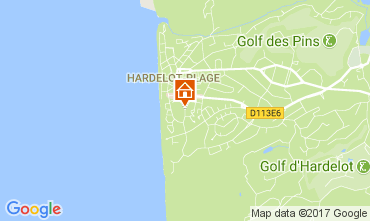 Map Hardelot Studio apartment 7781