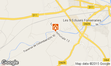 Map Beziers House 92346