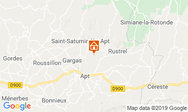 Map Roussillon Self-catering property 119396