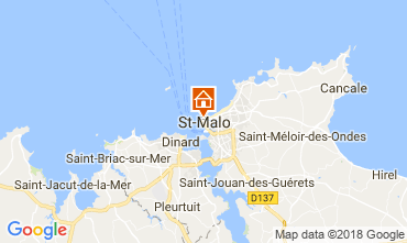 Map Saint Malo Studio apartment 7565