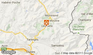 Map Les Gets Studio apartment 1347