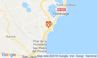 Map Torrevieja Apartment 117300