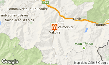 Map Valloire Apartment 48539