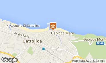 Map Cattolica Apartment 76642