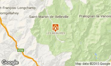 Map Les Menuires Studio apartment 1594