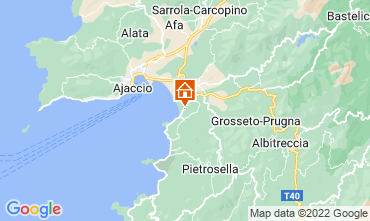 Map Ajaccio Apartment 99887