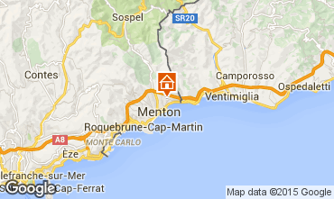 Map Menton Self-catering property 88518