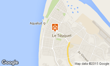 Map Le Touquet Apartment 18174