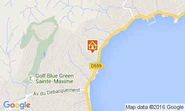 Map Sainte Maxime Apartment 97813