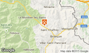 Map Serre Chevalier Chalet 2972