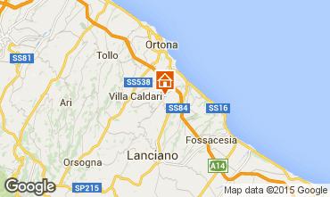 Map San Vito Chietino Apartment 99082