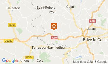 Map Brive-la-Gaillarde Self-catering property 113617