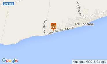 Map Tre Fontane Apartment 53891