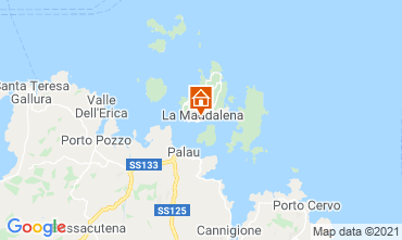 Map La Maddalena Studio apartment 87021