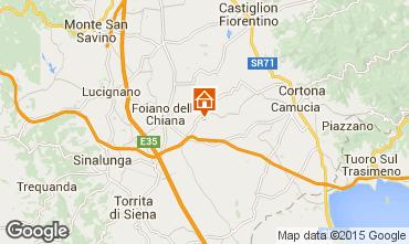 Map Cortona Self-catering property 14779
