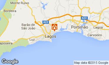 Map Meia Praia Apartment 54542
