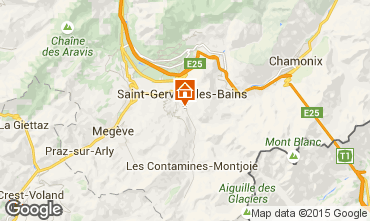 Map Saint Gervais Mont-Blanc Apartment 58587