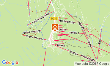 Map Les 2 Alpes Studio apartment 82617