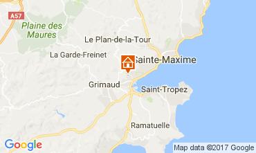 Map Saint Tropez House 70377