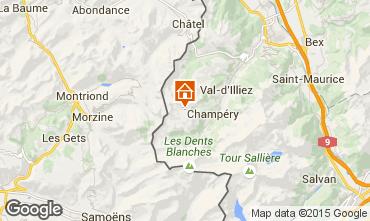 Map Les Crosets Studio apartment 4698