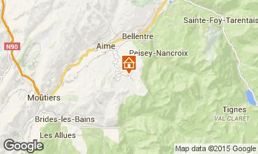 Map La Plagne Apartment 73797