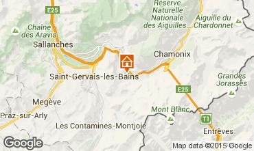 Map Chamonix Mont-Blanc Chalet 686