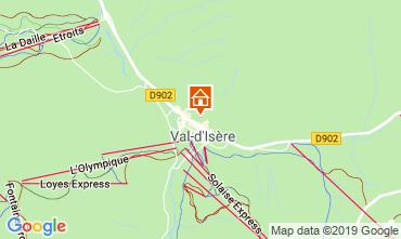 Map Val d'Isère Apartment 117667