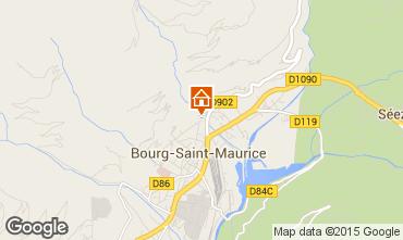 Map Bourg saint Maurice Apartment 81054