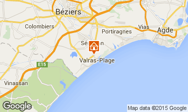 Map Valras-Plage Mobile home 95160