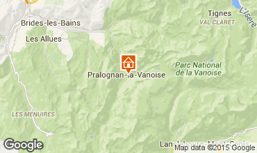 Map Pralognan la Vanoise Self-catering property 2290