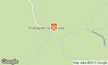 Map Pralognan la Vanoise Self-catering property 2290