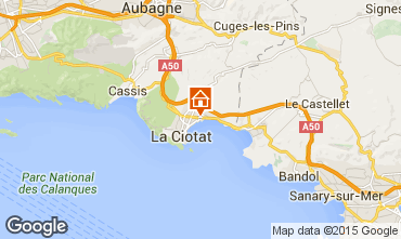 Map La Ciotat Studio apartment 93231