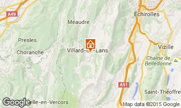 Map Villard de Lans - Corrençon en Vercors Studio apartment 28781