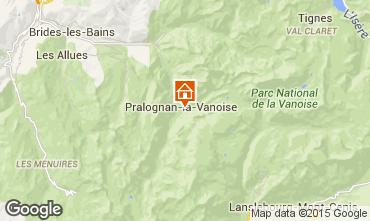 Map Pralognan la Vanoise Apartment 25582