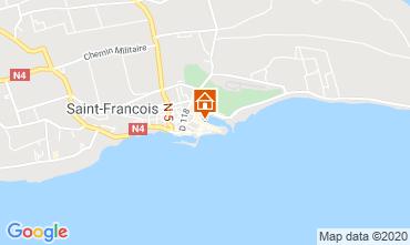 Map Saint Francois Studio apartment 67507