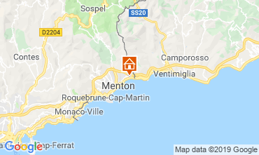 Map Menton Apartment 116149
