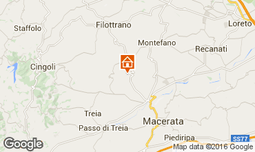 Map Macerata Self-catering property 17670
