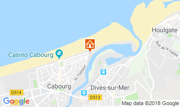 Map Cabourg Apartment 109681