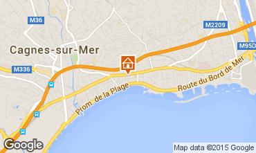 Map Cagnes sur Mer Studio apartment 98565