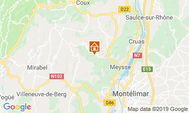 Map Vallon-Pont-D'Arc Self-catering property 119057