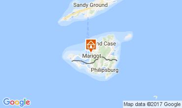 Map Marigot Studio apartment 108428
