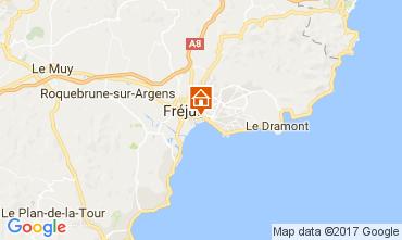 Map Fréjus Studio apartment 76600